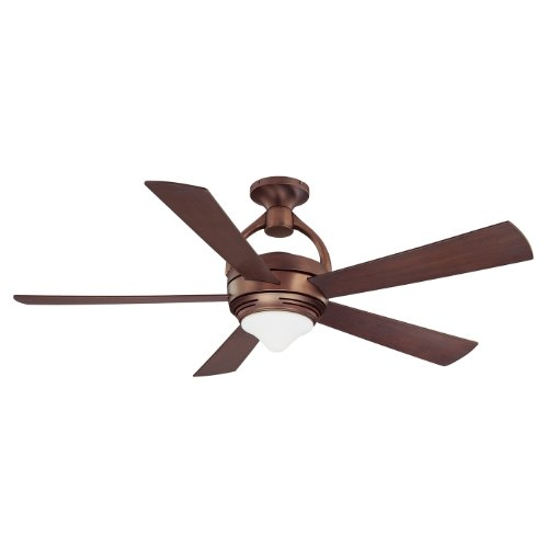 UPC 665807000778, Kendal Lighting AC18052-OBB Premia 52-Inch Dual Mount Ceiling Fan, Oil Brushed Bronze Finish with Reversible Elmwood/Oil Brushed Bronze Blades and Integrated Light Kit