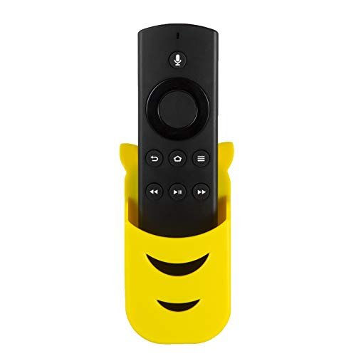 Yellow Remote Holder for Remote Control of Amazon Fire TV, Fire TV-Stick and Echo Remotes (Remote not included)