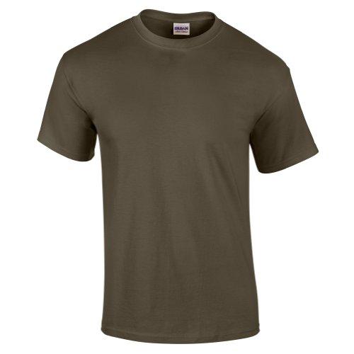 Gildan mens Ultra Cotton 6 oz. T-Shirt(G200)-Military GREEN-2XL