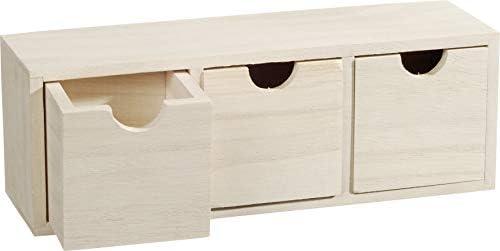 Knorr Prandell Caja de Madera para estantería de Madera con 3-cajones, marrón: Amazon.es: Hogar
