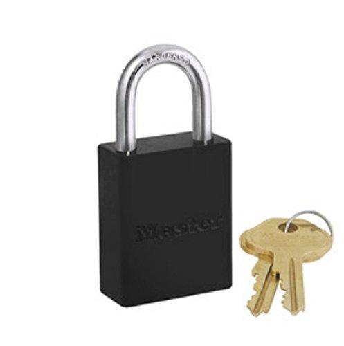 Master Lock 6835BLK Safety Series Padlock, Aluminum Body, 2-Inch, Black from Master Lock