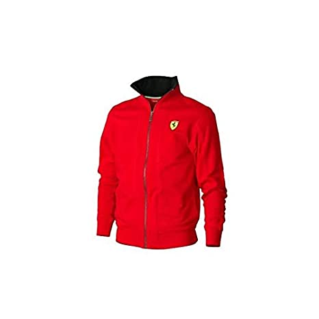 Ferrari Chaqueta Hombre Cremallera Negro o Rojo: Amazon.es ...