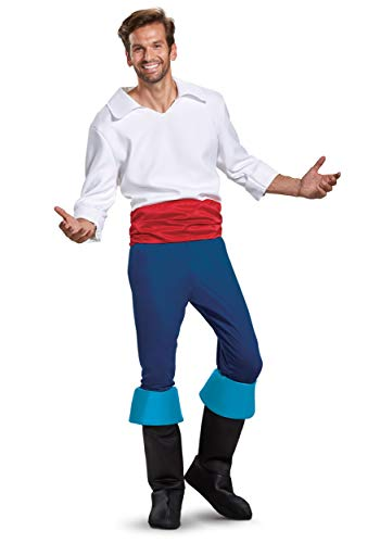 Adult Prince Eric Costume (Disguise Prince Eric Deluxe Mens Costume Medium)