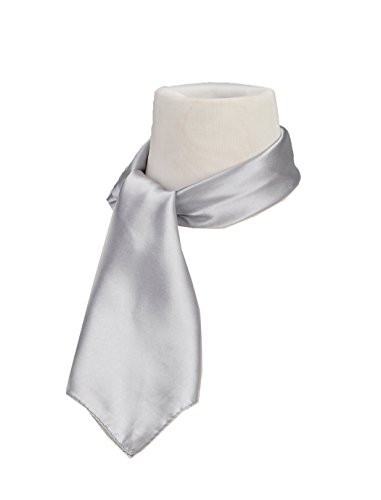 Silk Feel Soft Satin Square Scarf Head Neck Multiuse Solid Colors Available Silver Grey (Stretch Silk Scarf)