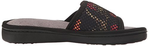 Dearfoams Womens Active Mesh Gore Slide Slipper Black
