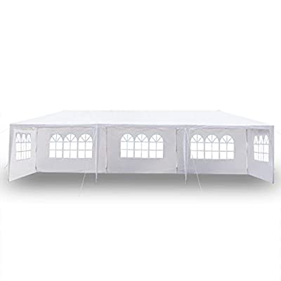 Layee 10' x 30' Outdoor Canopy Tent Heavy Duty Steel Frame with 5 Removable Sidewalls Waterproof Sun Snow Rain Shelter Canopy BBQ Party Wedding Event Tent : Garden & Outdoor