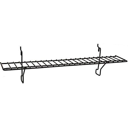 Lot of 4 New Black Wire Shelf Fits Slatwall, Grid, Pegboard 23w x 4d by Wire Shelf