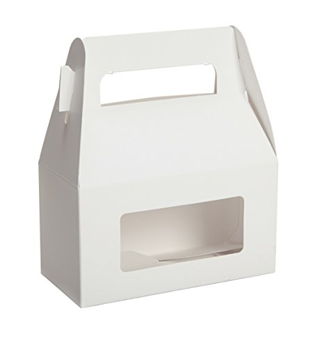 Gable Treat Box Food Container by Tap - Pack of 50 (White)