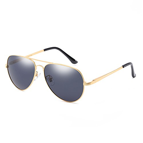 Classic Aviator Polarized Sunglasses for Men Sports Fishing Driving 100% UV Protection (gold/ - Sunglasses For Best Sun Glare
