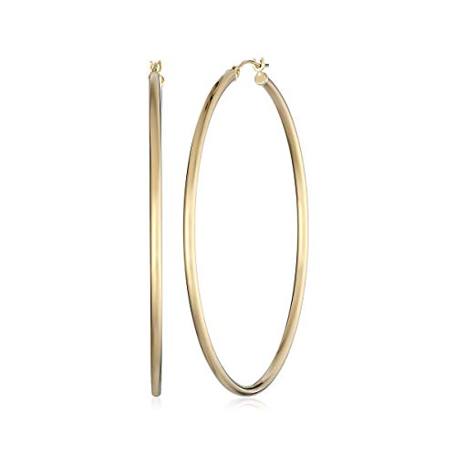 (14k Yellow Gold Hoop Earrings (2