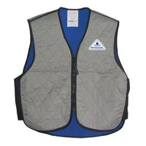 HyperKewlTM Standard Sport Evaporative Cooling Vests -Leatherbull(Free U.S. Shipping) (M, silver)