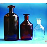 Stoppered Bottle Clear Borosilicate, 250 ml, 72 x 145 mm with stopper on , 4/PK