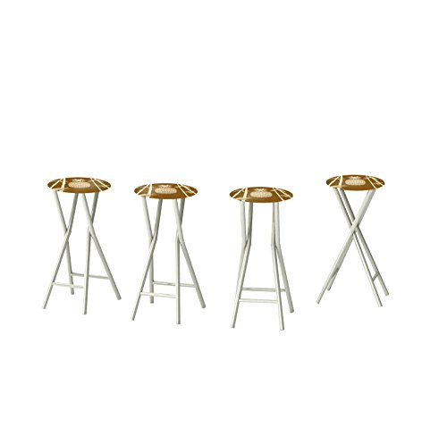 Best of Times Classic Bamboo Padded Bar Stools (Set of 4) For Sale