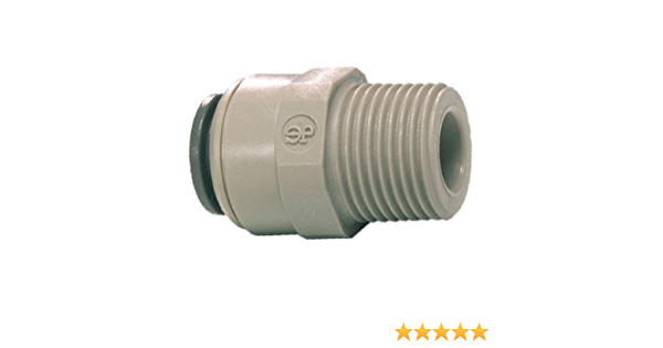 John Guest PM010611E Male Connector 6 mm x 1//8 BSPP Pack of 10