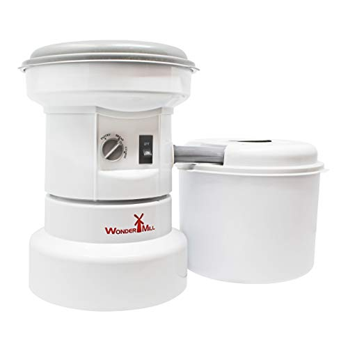 Powerful Electric Grain Mill Grinder for Home and Professional Use - High Speed Electric Flour Mill Grinder for Healthy Grains and Gluten-Free Flours - Electric Grain Grinder Mill by Wondermill (Best Popcorn Maker Canada)