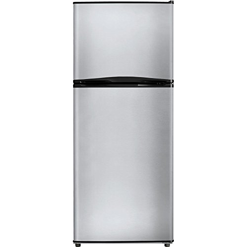 - MIDEA 9.9 Cubic Foot Top Mount Refrigerator-Stainless Steel