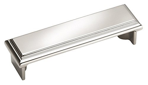 Amerock Manor Cup Pull - Amerock BP2613026 Manor Cabinet Pull, 3-1/2 Inch, Polished Chrome