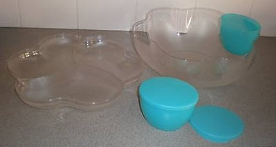 (Tupperware Limited Ddition Version Crystal Clear Chip N Dip)