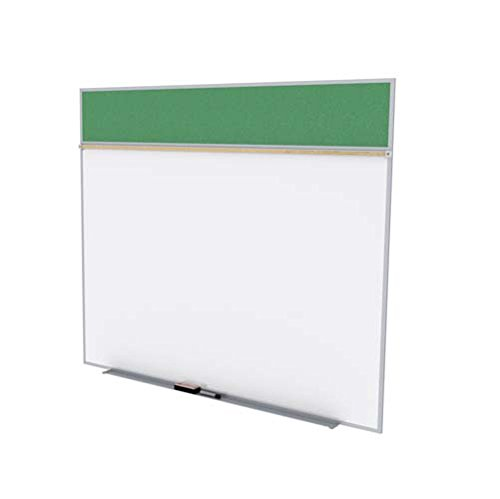 Ghent SPC510A-V-197 5 ft. x 10 ft. Style A Combination Unit - Porcelain Magnetic Whiteboard and Vinyl Fabric Tackboard - Spruce by Ghent