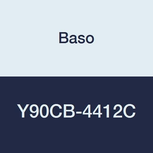 BASO Y90CB-4412C Aluminum Lined without Coupling Inlet Fitting, 1/8'' Female Tip, Dual Orifice 164 Degree, Lp Gas, 1/8'' Female Pipe Thread, 0.012'' Orifice Size