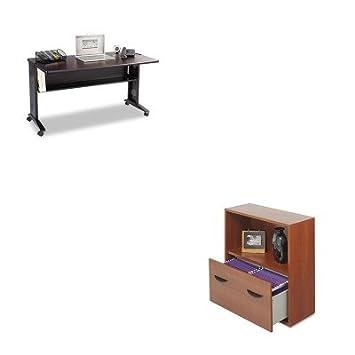 KITSAF1933SAF9445CY - Kit de valor para ordenador portátil Safco con parte superior reversible (SAF1933) y armario de cajón con estante (SAF9445CY): ...