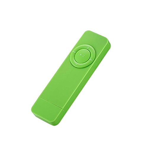 SUKEQ 2 in 1 USB Stick MP3 Player, Portable 512MB Music Player Supports Replaceable Battery, Recording (Green)