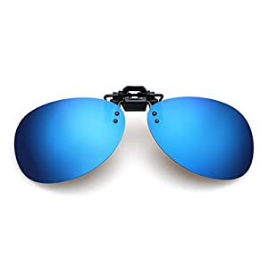 LOMOL Fashion Light Weight Polarized Nearsighted Glasses Clip-on Flip up UV Protection Sunglasses(C1)