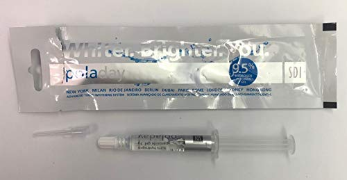 Pola day (poladay) 9.5% Hydrogen Peroxide Teeth Whitening Gel 1 x 3g Syringe Retail Packaging. 2.5 Times more material than small pola day syringes