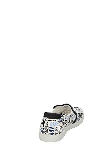 C65561610 Armani Jeans Zapatillas Hombre Tejido Blanco Blanco