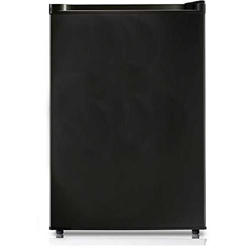 Midea WHS-160RB1 Compact Single Reversible Door Refrigerator and Freezer, 4.4 Cubic Feet, Black