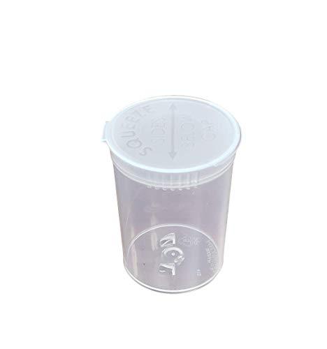 30 Dram Pop Top Prescription Bottle by MT Products - (15 Pieces) (Clear) ()