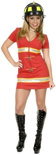 Sexy Red Fire Fighter Costume Size: X-Large 14 - Red Fox It Adult Womens Costumes