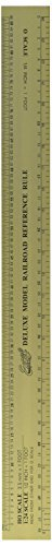 (Model Railway Reference Ruler 12.5 inches long aluminium for N,HO, O & G scales by Excel)