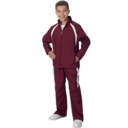 (Charles River Apparel 8958 Youth TeamPro Pant,Maroon/White,M)