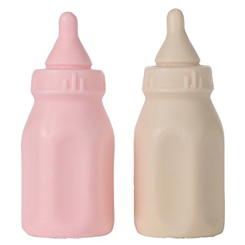Lily's Home Baby Bottle Soaps - Unique Premium Handmade Soap. The Perfect Baby Shower Gifts. Set of 2 (Pink & White)