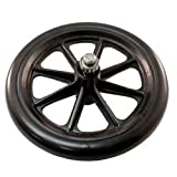 Roscoe Replacement Wheel 6 Inch With Bearing Black - 9 Spoke Wheel - For E-Series - Part # 90299