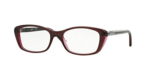 Dkny Womens Eyeglasses - DKNY DY4661 Eyeglass Frames 3655-50 - Red On Red Transp
