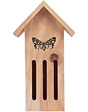 PETSOLA Safe Attractive Wooden Butterfly House Resting Place for Tree Bees Bugs
