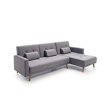 MERKAHOME Sofa CHAISELONGUE Cama Clic CLAC Gris 236 CM ...