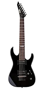 31SS9uxehNL._SY300_ amazon com esp ltd m 17 7 string electric guitar, black musical Schecter Guitar Wiring Diagrams at fashall.co