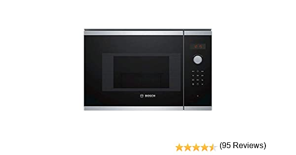 Bosch BEL523MS0 - Microondas integrable / encastre, 800 W, 20 L, color negro: 223.86: Amazon.es: Hogar