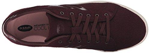 Dr. Scholls Schoenen Dames Madi Chevron Fashion Sneaker Merlot Swartz Stof