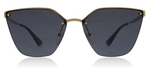 Prada PR68TS 7OE5Z1 Antique Gold PR68TS Cats Eyes Sunglasses Polarised Lens Cat (Women Sunglasses Polarised For)