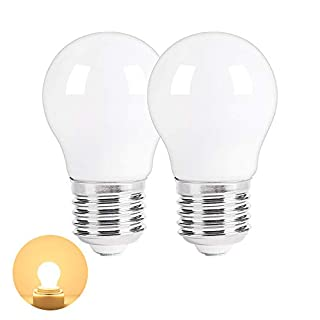 LED Appliance Light Bulb for Refrigerator Fridge Over Microwave Hood Stove Ceiling Fan Replacement A15 40W Bulb E26 Medium Base 120V 5W 500lm Soft White Non dimmable Warm White 3000K Pack of 2