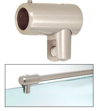 C.R. LAURENCE S5BN CRL Brushed Nickel Support Bar U-Bracket for 3/8