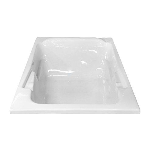 Best Whirlpool Tub - Carver Tubs SR7148 White Acrylic Drop-In Whirlpool Bathtub - 71