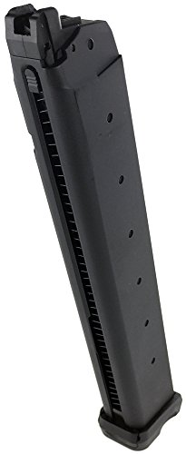 SportPro 50 Round Metal D-mod ACP601 CO2 Gas Magazine for GBB G17 G18 Airsoft – Black