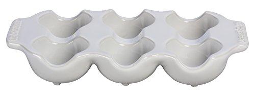 (Le Creuset of America 6 Cup Egg Carton, White)
