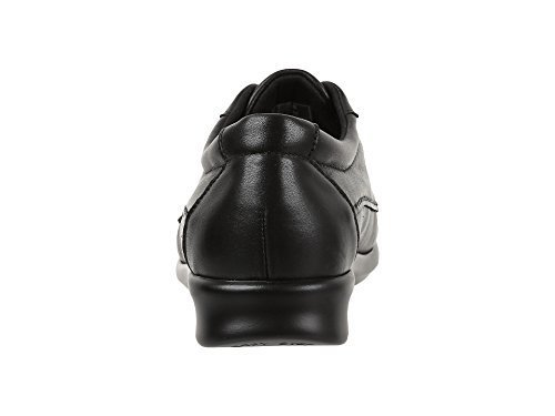 SAS Women's Traveler Black Leather Shoe, Black 8.5 W by SAS