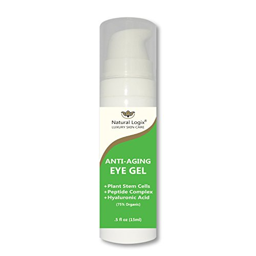 Natural Logix Eye Bright Gel is the most effective anti-aging therapy for every eye concern: Dark circles, wrinkles, sagging, loss of plump & firmness, loss of tone & resilience. 75% Organic .5 fl oz -